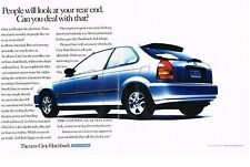 PUBLICITE ADVERTISING  1996  HONDA  CIVIC   (2 pages)