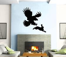 Hunting Eagle Rabbit  Animal  Decor Mural Wall Art Decor Vinyl Sticker z381