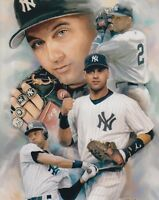 DEREK JETER NEW YORK YANKEES UNSIGNED 8x10 PHOTO (G)
