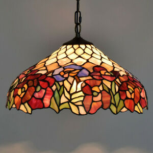 Tiffany Style Lamp Hanging Ceiling Chandelier Pendant Lighting Stained Glass