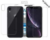 Set of 2 Protective Films Front + Rear toughened glass for iPhone XS