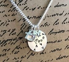 Personalized Hand Stamped Sterling Silver Baseball/Softball Necklace