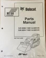 Bobcat MT50 Mini Track Loader Parts Manual Shop Book 1 Part # 6901679