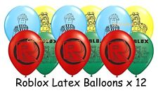 Roblox Noob Latex Balloons x 12 Gaming Party Decoration Blox