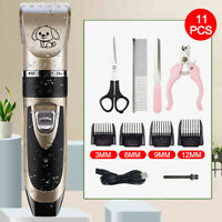 Electric Animal Pet Dog Cat Hair Trimmer Shaver Razor Grooming Quiet Clipper USA
