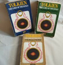 Tolkien   Original versions of Trilogy LOTR Lord Of The Rings 3 Books