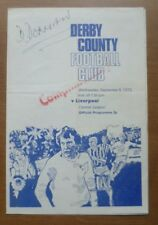 Derby County v Liverpool, 05/09/1973 - Central League (Reserves) Programme.