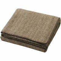 Creswick 320GSM Australian Alpaca Wool Blanket Herringbone Dark Brown
