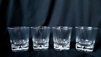 Libbey Rocks Squire Double Old Fashioned Glasses Set of 4 Heavy Bottom