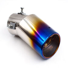 1PC Dossy Bent Bluing Burnt Curved S.S Exhaust Tail Pipe Muffler Tip 130mm Nice