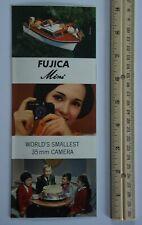 Fuji Fujica Mini World's Smallest 35mm Camera Vintage Folder Advertising