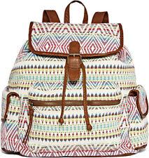 Arizona Backpack Bag Purse Flap White  NWT $60 Pink Green Blue