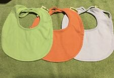 3 Organic Cotton Bibs With Tie Backs