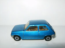 RENAULT 5 R5 TL Bleu Blue N° 21 MATCHBOX ENGLAND 1978 sans Boite