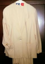 Talbot's 3 piece lined Yellow 100% Silk suit-size 20-vest & jacket / 18-skirt