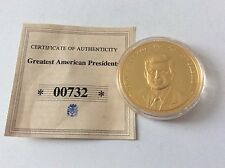 Médaille en copper gold-plated USA 2008 JF Kennedy proof
