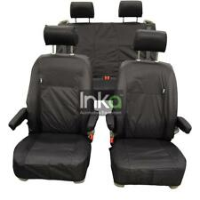 VW California Ocean T6 Inka Fully Tailored Waterproof Seat Covers Airbag Black