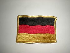 FULLY EMBROIDERED GERMANY NATIONAL FLAG SEW-ON PATCH