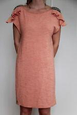 bonito vestido rosa salmón decorado uñas MET AND FRIENDS talla XS ETIQUETA