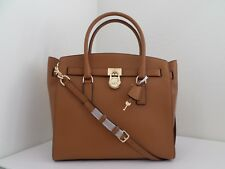 NWT AUTHENTIC MICHAEL KORS HAMILTON EXTRA LARGE LEATHER SATCHEL-$358-ACORN