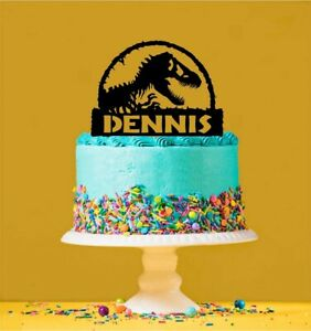Jurassic Park - T-Rex Personalised Acrylic Cake Topper