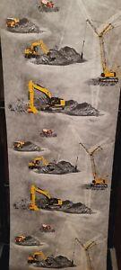Little Stars Construction/Digger Wallpaper