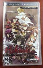Hakuoki: Warriors of the Shinsengumi (Sony PSP, 2013) NEW FACTORY SEALED