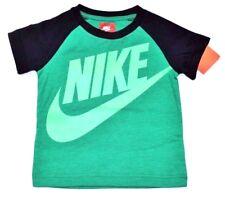 NWT  ~~BOY'S NIKE T-SHIRT...SIZE 2 TODDLER...NAVY BLUE & BRIGHT GREEN~~