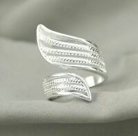 925 Solid Sterling Silver Plated Women/Men NEW Fashion Ring Gift SIZE OPEN SEP03