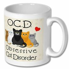 Cat Ocd Mug Gift Disorder Coffee Obsessive Funny Present Novelty Cup Tea