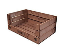 Personalised apple crate dog/cat bed