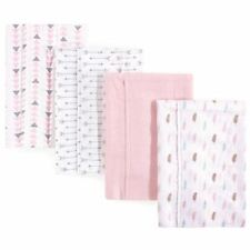 Luvable Friends Girl Flannel Burp Cloth, 4 Pack, Girl Feathers
