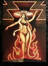 FROM DUSK TO DAWN ~ SEXY SANTANICO ART PRINT -  SIGNED BY MIKE KROME A3 FORMAT