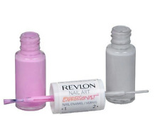 Duo Set Revlon Pastel Punk Nail Art Expressionist Pink Grey Nail Polish