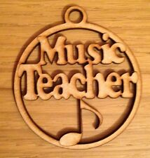 Wooden Music Teacher Bauble Mdf Christmas Tree Decoration