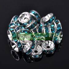 Wholesale Bulk Czech Crystal Rhinestone Rondelle Spacer Beads  4/5/6/8/10/12mm