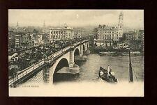 London Bridge paddle steamer Tuck #1135 Vintage PPC