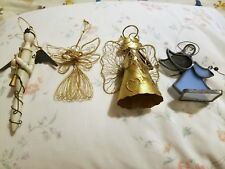 Four Collectible Angels, Very Unique, 1 wooden, 1 wire, 1 metal, 1 glass & metal