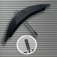 Falcone Duo Double Canopy Twin Two Person Couples Black Large Umbrella (641)