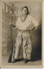 Scranton Cowboy with Rifle PA RPPC Real Photo [Spruce Street] postcard unused
