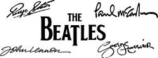 "BEATLES Signatures Vinyl Decal Auto Graphics Wall Sticker 4x12"" Lennon McCarthy"