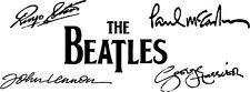 "BEATLES Signatures Vinyl Decal Auto Graphics Wall Sticker 4x12"" Lennon McCarthy"