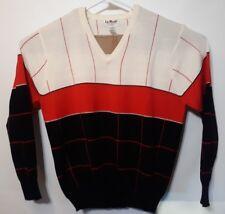 La Mode Active Sportswear Mens XL 100%SuperSoft Acrylic Cashmerlon VNeck Sweater