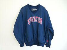 Vintage Starter Jacket Windbreaker Pullover Blue Spell Out 90s Sz XL Hip Hop