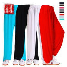 Silk Chinese Kung Fu Tai Chi Pants Martial Arts Trousers Bloomers Uniforms S-XXL