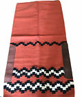 "Showman Custom Made Western SADDLE PAD 68x 32"" BROWN ORANGE  Wool Preowned"