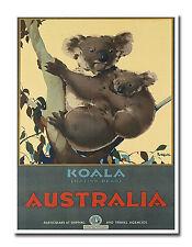 "Australian Art Decor Koala Vintage Travel Poster Print 12x16"" Rare Hot New XR649"