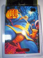CARTE MARVEL MASTERPIECES GOLD FOIL SERIES 1994 N°122 THANOS MINT CARD BASE