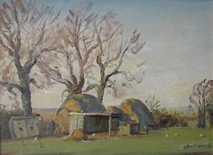 Farmstead in Rural England Oil Painting George Herbert Buckingham Holland c1930s