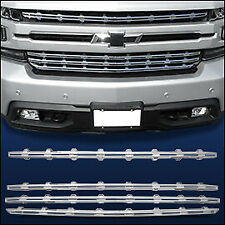 Chrome Grille Overlay (4 PCS) Compatible with 2019-2020 Chevy Silverado 1500